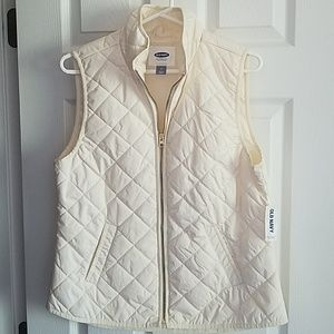 Old Navy Quilted Vest - Cream - NWT